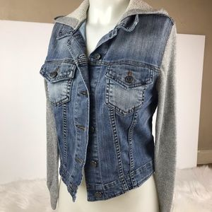 BDG denim/sweatshirt jacket